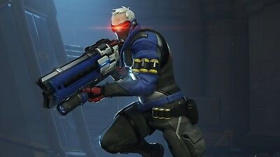 Overwatch Soldier 76 Game Poster Print T161 |A4 A3 A2 A1 A0|