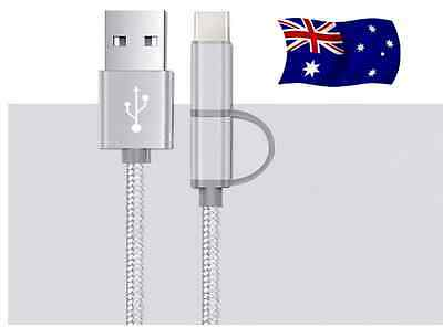 2 in 1 USB 3.1Type-C & Micro USB Combo Data/Charging Cable
