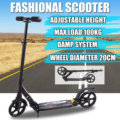 2018 Folding Scooter Commuter Big Wheel Suspension Fashion Scooter Adult Child