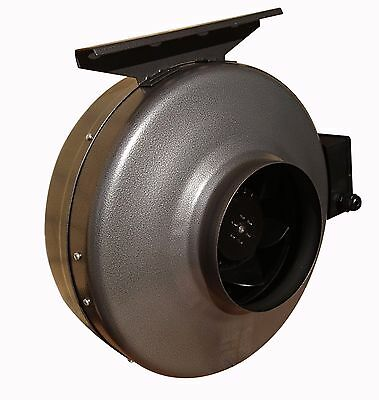 """Centrifugal industrial in-line duct extractor fan 5""""/125 mm; Zink Coated Metal"""