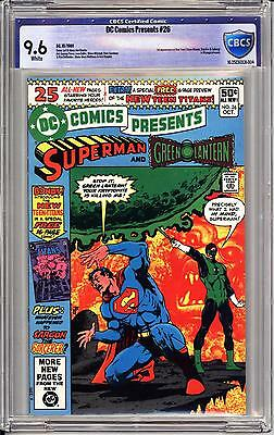 Dc Comics Presents #26 Cbcs 9.6  White Pages!  1St Cyborg, Raven, Star-Fire!