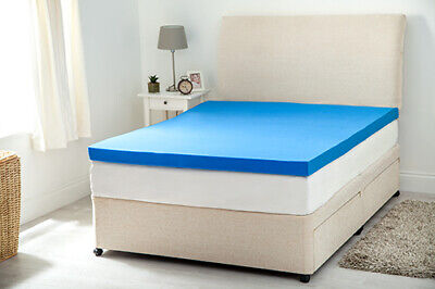 Gelify Orthopaedic Gel Feel Foam Mattress Toppers in Choice of Sizes