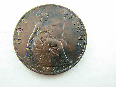 Great Britain 1901 one Penny about UNC