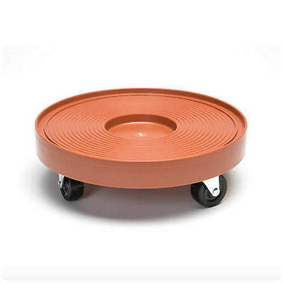 Rolling Plant Planter Pot Barrel Dolly Caddy Trolley Roller Stand Cart Holder