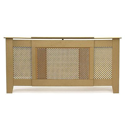 FOREST Radiator Cover Cabinet Unfinished MDF, Diamond Grill, Adjustable Size