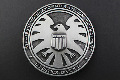 Agents Of S.h.i.e.l.d Shield Curved Metal Belt Buckle Marvel Comic Book Movie