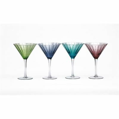 Circleware - White Rain Coloured Martini 295ml Glasses set of 4