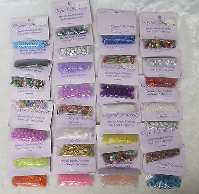 """30 packets of """"Crystal Butterfly"""" beads"""