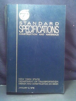 NNYS Dept of Trans:Standard Specifications Construction and Materials,1973