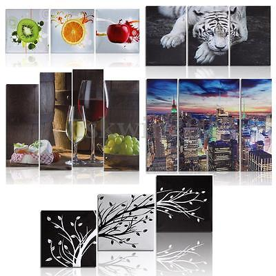12 Types 3/5 Panels Modern Oil Painting Wall Decor Art Picture Canvas Unframed