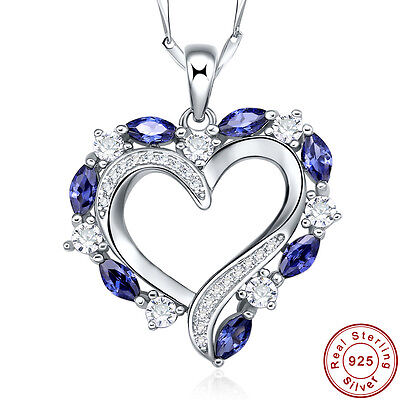 1.43CT Marquise Cut Tanzanite 100% S925 Sterling Silver Pendant Chain Necklace