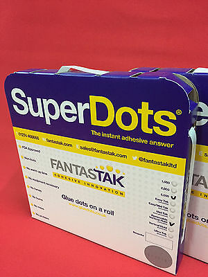 Glue Dots Removable Vertical Hold Clear X 5000