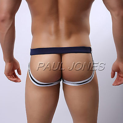 Sexy Mens Underwear Jockstrap Briefs Backless G-String Thongs Low Rise Underpant