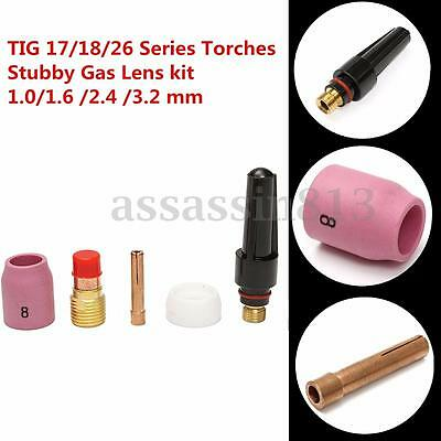 5PCS TIG Gas Lens Kit Fit For Tig WP-17/18/26 Series Air Cooled Welding Torches