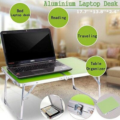 Aluminium Portable Picnic Folding Table Laptop Desk Stand PC Notebook Green