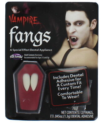 Vampire Fangs With Putty - Perfect For Halloween