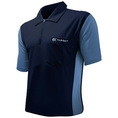 Target Coolplay 3 Darts Shirt - Breathable - Navy with Light Blue - Small to 5XL