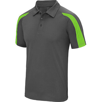 Designa Just Cool Darts Shirt - Charcoal with Green - Breathable - Small to 2XL