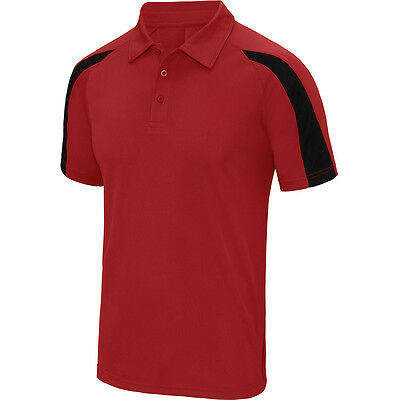 Designa Just Cool Darts Shirt - Red with Black - Breathable - Small to 2XL