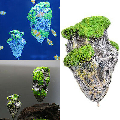 Aquarium Fish Tank flottant Pierres suspension Rocks  artificielle Décoration