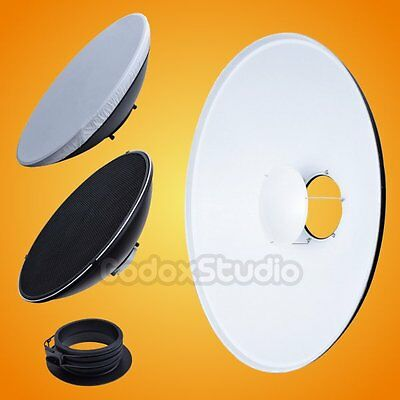 [UK] 42cm White Honeycomb Grid Beauty Dish Profoto Mount (Speedring Changeable)