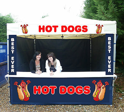Mobile Catering Trailer Aluminium Gazebo Aluminium Market Shelter HOT DOG STAND