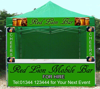 Mobile Heavy Duty Market Stall Catering Trailer Commercial Gazebo Printed Tent