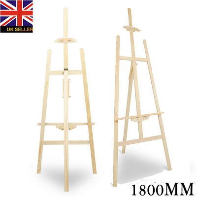 PINE WOOD WOODEN STUDIO EASEL 6ft (1800MM HIGH) ARTIST ART CRAFT DISPLAY New