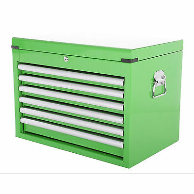 Halfords Industrial Green 6 Drawer Ball Bearing Tool Chest *GRADE B* 795