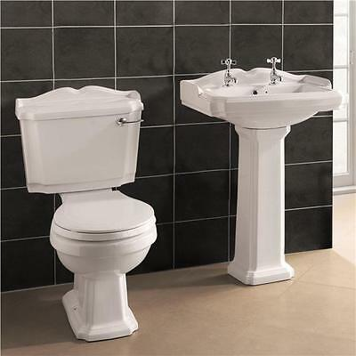 Victorian Legend Traditional Style Bathroom Suite Sink & Toilet  Soft Close Seat