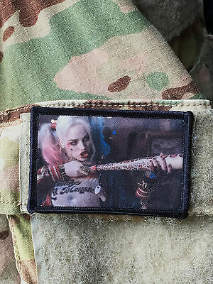 Suicide Squad Movie Harley Quinn Morale Patch Military Tactical Army Flag USA