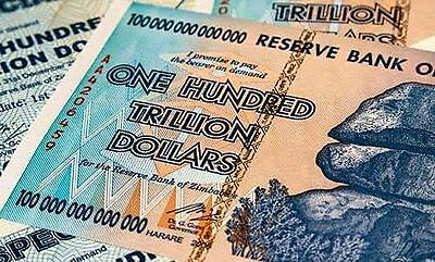 Zimbabwe 100 Trillion Dollars P91 Aa 2008 Series Uncirculated - Fast Shipping