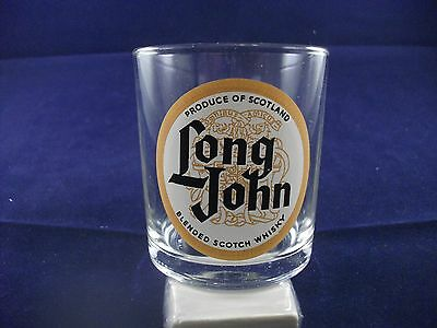 Rare Advertising Whisky Glass Long John Blended Scotch Whisky