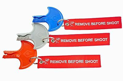 PaintNoMore Barrelplug mit Schlüssel Anhänger REMOVE BEFORE SHOOT Paintball