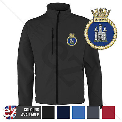 HMS Pembroke - Royal Navy - Softshell Jacket - Personalised text available
