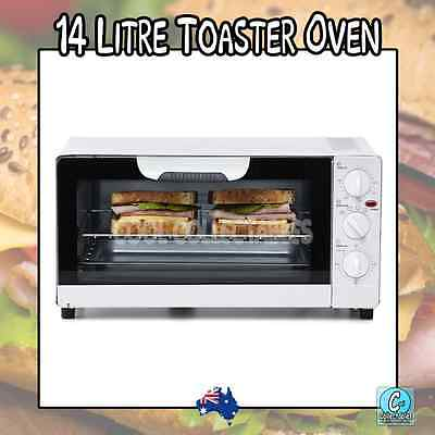 14L Kitchen Toaster Oven Cooker/Bake/Grill/Roast/ - Baking Timer Baking Rack -