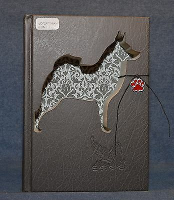 Norwegian Elkhound Upcycled Book - 003