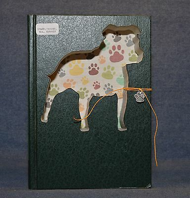 Staffordshire Bull Terrier Upcycled Book - 003