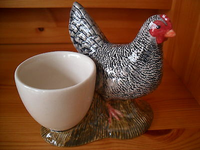 Chicken (Scots Grey)Ceramic Egg Cup By Quail Pottery Boxed