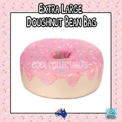 - New - Extra Large Donut Beanbag / Bean Bag Cover Pink - 400L Capacity