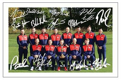 Team Usa 2016 Ryder Cup Signed Autograph Photo Print Golf