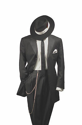 Men's - Zoot Suit Gangster Pinstripe Tuxedo Coat - Jacket Only