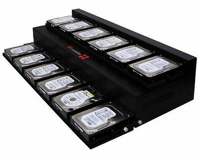 1-11 Disque Dur (HDD/SSD) Duplicateur Clonage Copie Graveur 150MB/s - Flat Bed