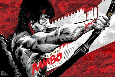 Rambo Movie Art Poster T206 |A4 A3 A2 A1 A0|