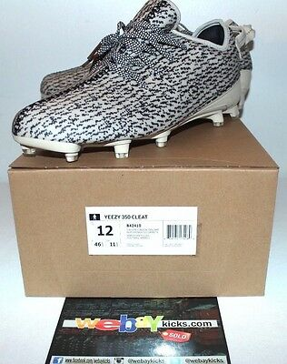 99b50895 Adidas Yeezy Boost 350 Turtle Dove Kanye West Football Cleats Men's Size 12  New