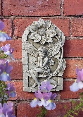 Stone Garden Thinking Fairy Wall Plaque Hanging