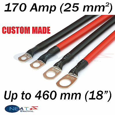 "Up To 460 mm (18"" ) RED 170 Amp Car Battery Power Cable Starting Motor Lead"