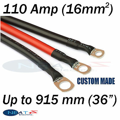 "Up To 915 mm (36"" ) RED 110 Amp Car Battery Power Cable Starting Motor Lead"