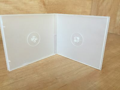 100 CLEAR DOUBLE CD DVD POLY CASES w/ SLEEVE
