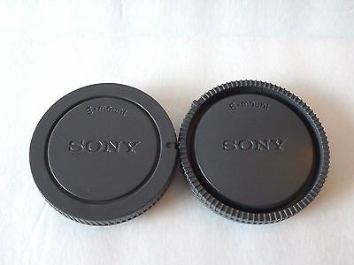 Camera Front Body & Rear lens Cap Dust Cover for Sony Alpha α E Mount DSLR New